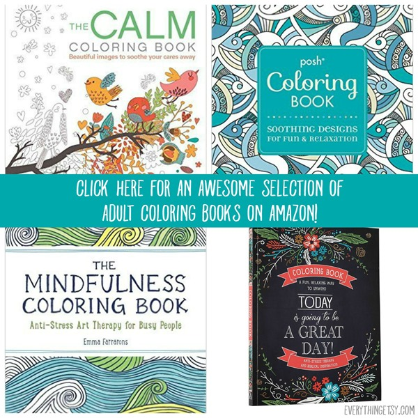 Selection of Adult Coloring Books on Amazon - EverythingEtsy.com