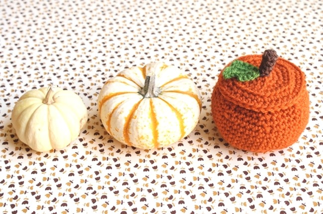 fall crochet patterns - pumpkin bowl DIY