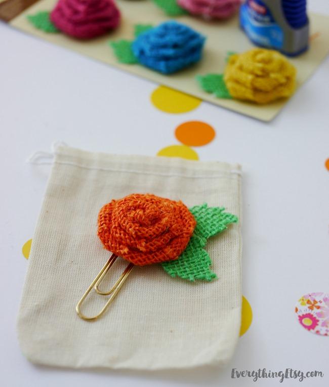 DIY Flower Planner Paper Clip on EverythingEtsy.com
