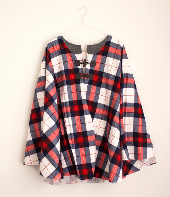 DIY Plaid Gift - Cape tutorial