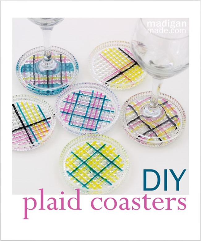 DIY Plaid Gift - Coasters