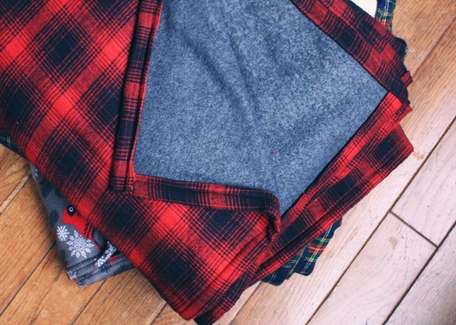 DIY Plaid Gift - Flannel Throw