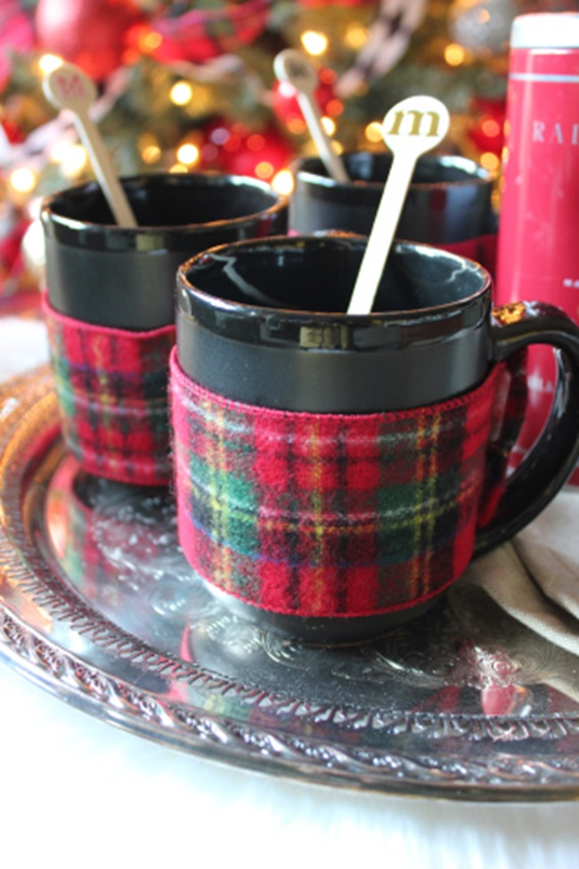 DIY Plaid Gift - Mug Wraps