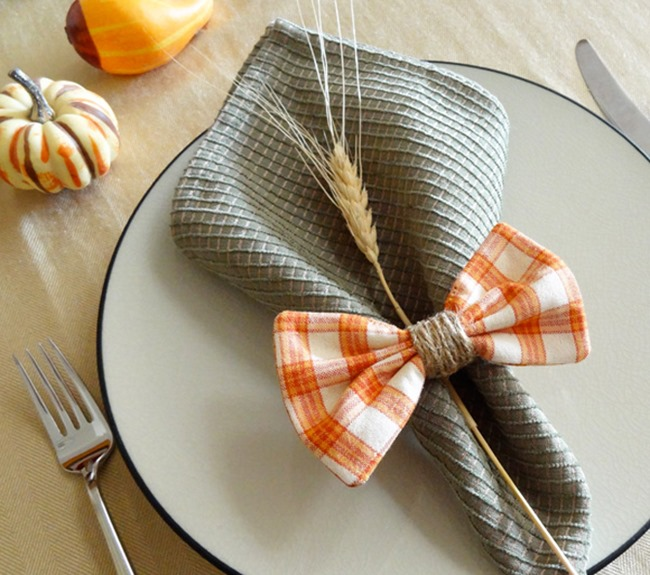 DIY Plaid Gift - Napkin Rings