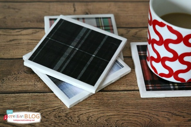 DIY Plaid Gift - Tartan Coasters
