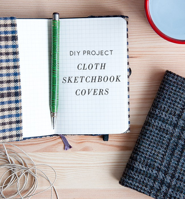 DIY Plaid Gift - notebook cover tutorial