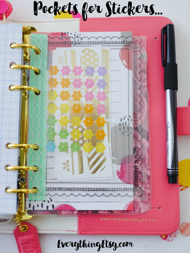 DIY Planner Sticker Pockets - EverythingEtsy.com