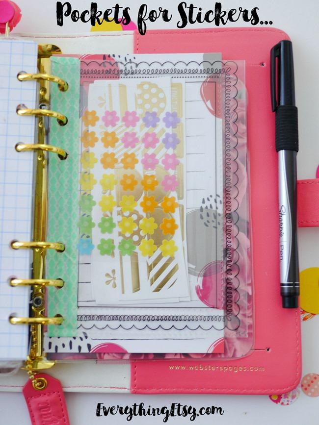 DIY Planner Sticker Pockets - EverythingEtsy.com