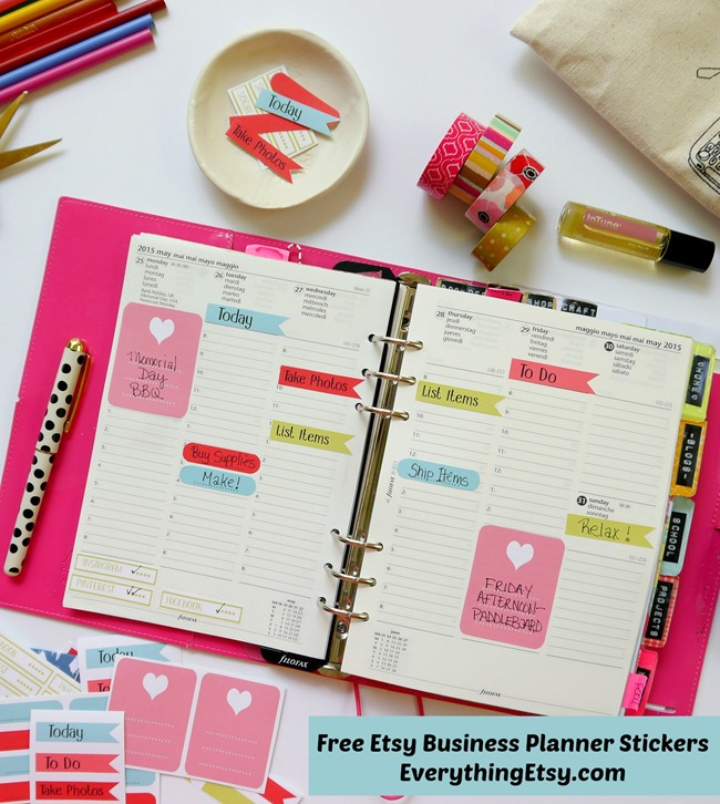 Free Etsy Business Planner Stickers Printable on EverythingEtsy.com