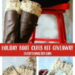 DIY Knitted Boot Cuffs Holiday Kit by Amy Clark {Giveaway}