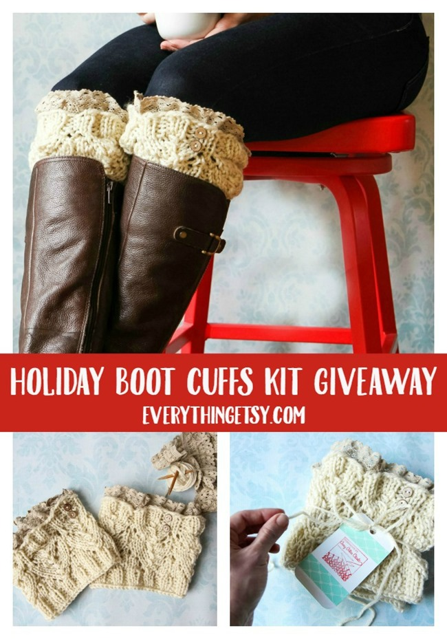Holiday Boot Cuff Kit Giveaway - Design by Amy Clark {Hazel & Ruby} - EverythingEtsy.com