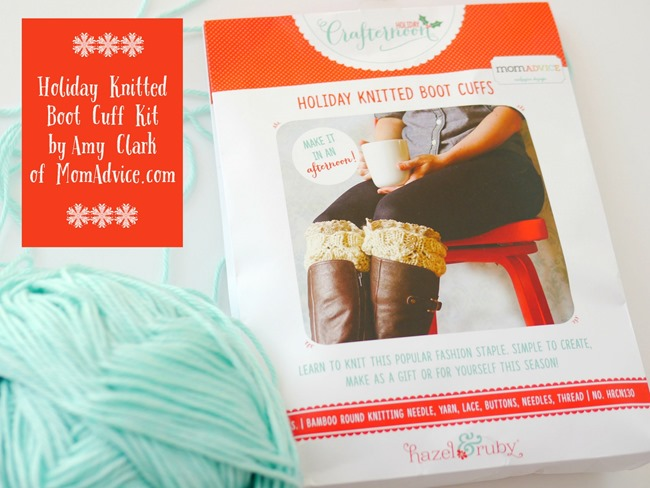 Holiday Knitted Boot Cuff Kit by Amy Clark of MomAdvice.com - Giveaway on EverythingEtsy