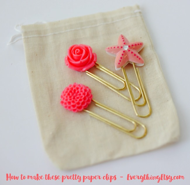 How to make these pretty paper clips on EverythingEtsy.com