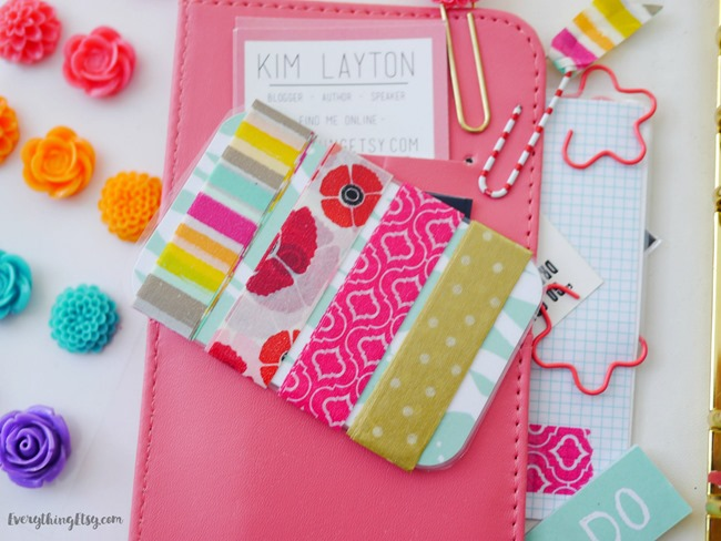 Storing Washi Tape in Your Planner - Washi Tape Cards on EverythingEtsy.com