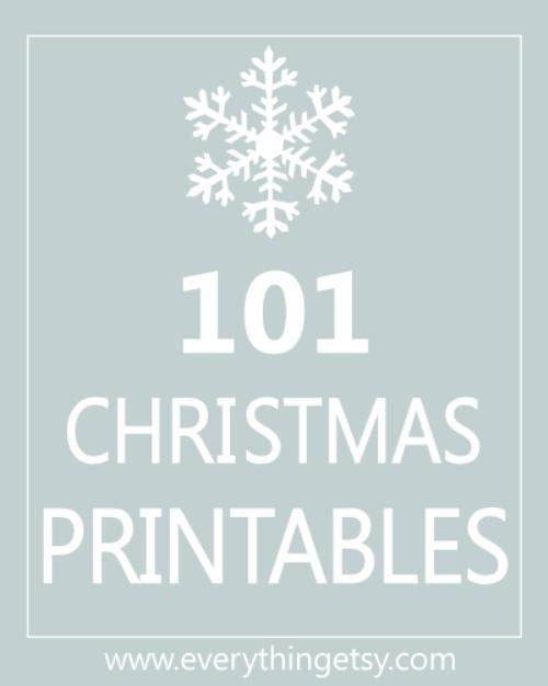 101 Christmas Printable {free}