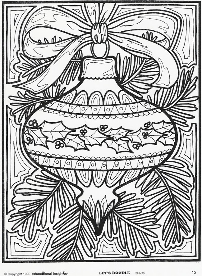 Christmas Printable Coloring Page - ornament for Christmas