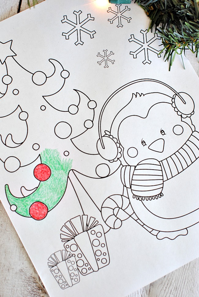 ChristmasPenguinColoringPage