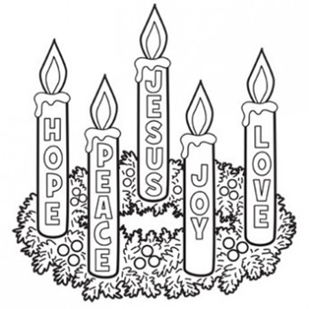 21 christmas printable coloring pages for Printable advent coloring pages