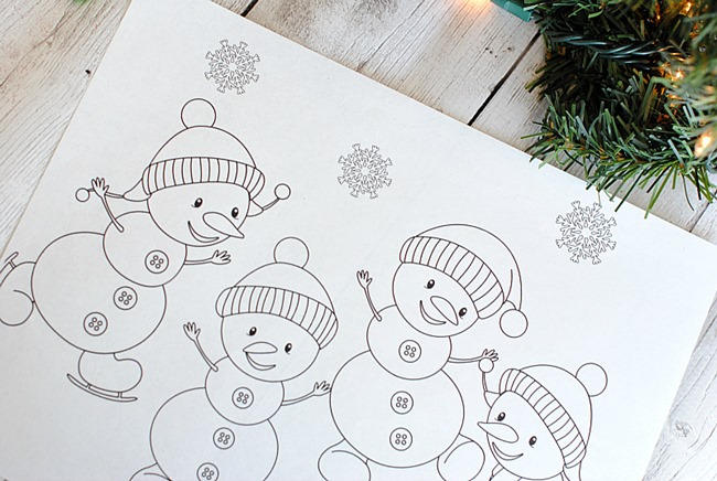 April Coloring Pages Preschool : Christmas printable coloring pages everythingetsy