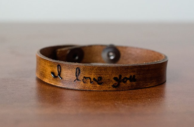 Etsy - leather bracelet
