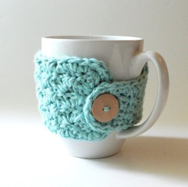 Free crochet coffee cozy pattern - easy