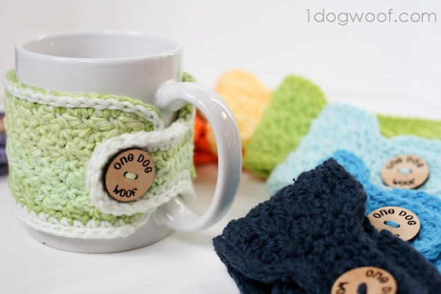 Free crochet pattern - coffee cozy