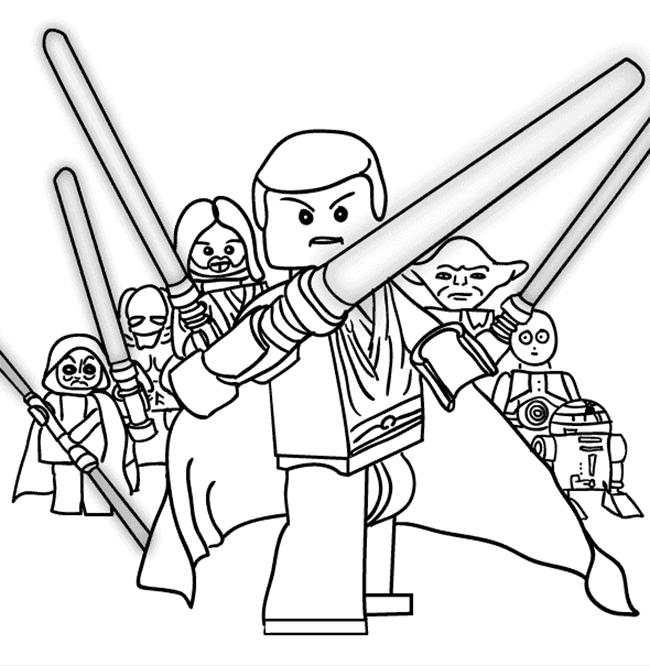 Star wars friends coloring pages lego star wars printable