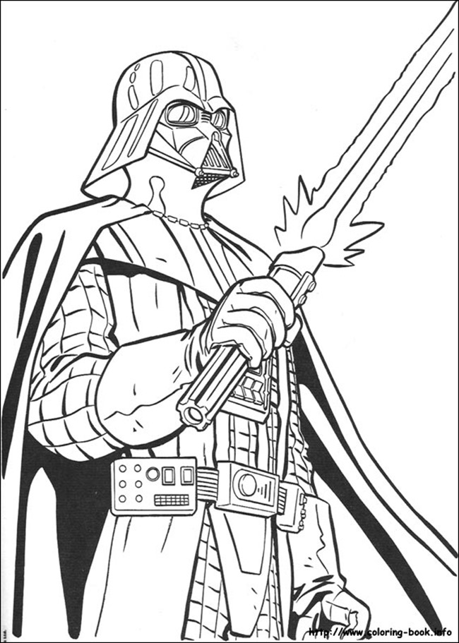 star wars coloring page darth - Star Wars Coloring Books