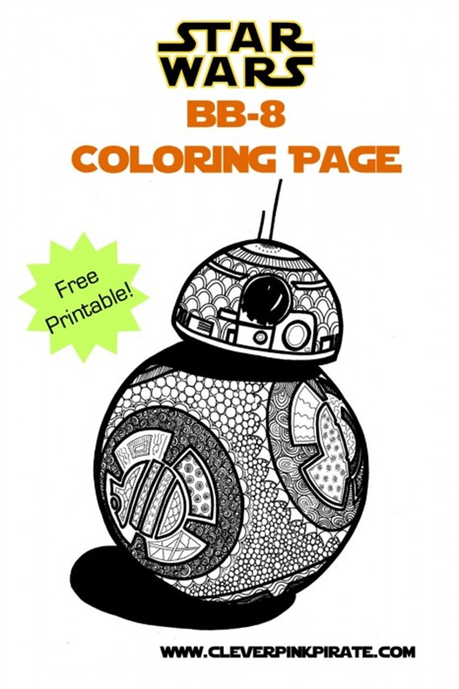 Star Wars Free Printable Coloring Pages for Adults & Kids {Over 100 ...