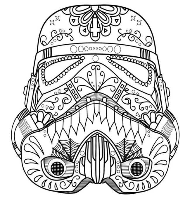 Pattern Coloring Sheets Printables : Star wars free printable coloring pages for adults & kids {over