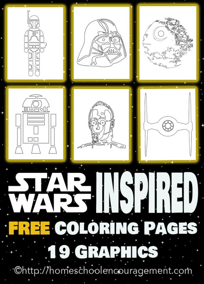 Star Wars Free Coloring Pages on Homeschool Encouragement