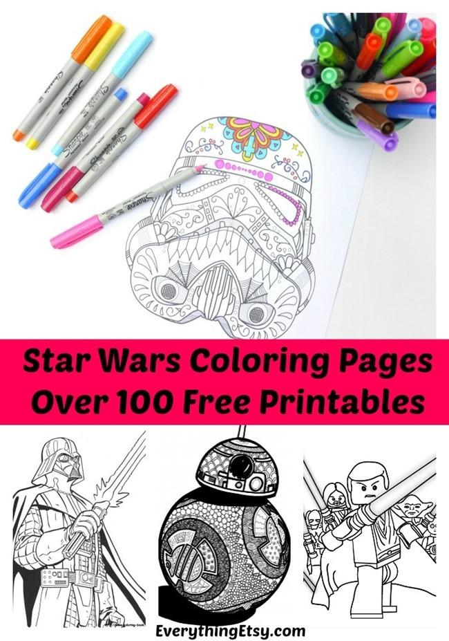 star wars free printable coloring pages for adults - Fun Printable Coloring Pages