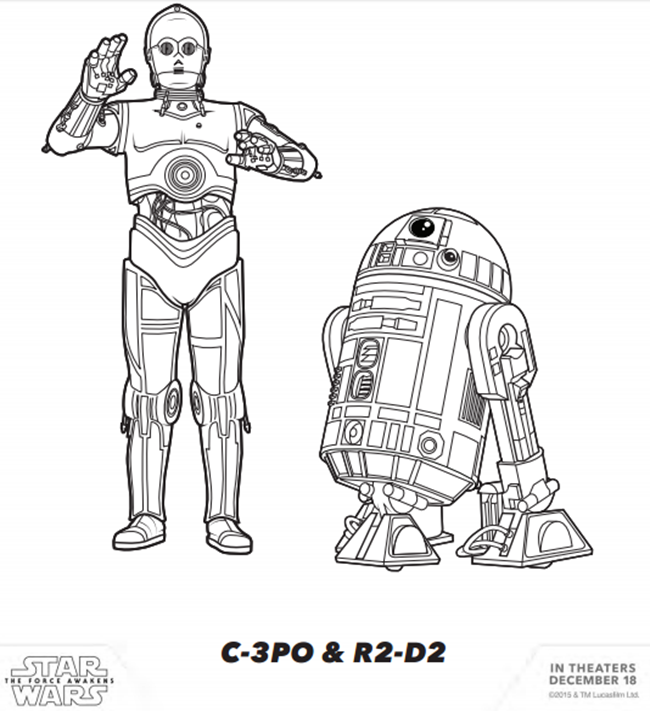 star wars printable coloring pages - Star Wars Coloring Pages