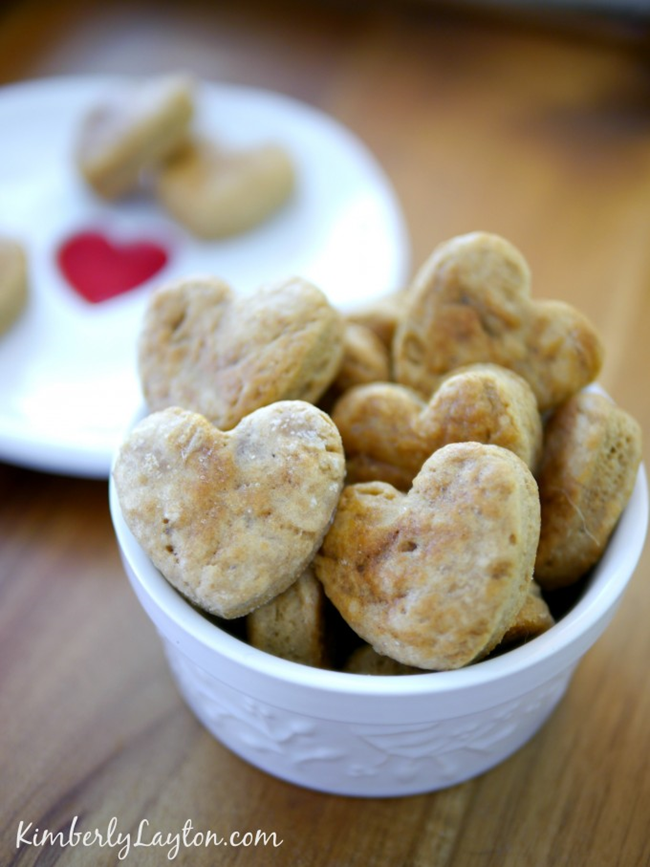 Valentine's Day Dog Treat Recipe...cute! EverythingEtsy