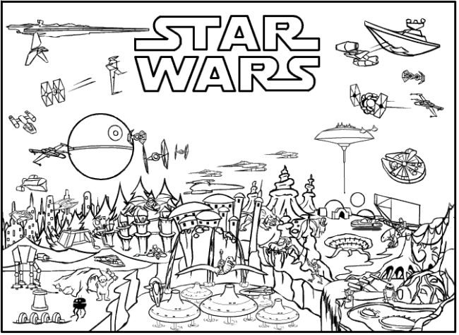 printable coloring page cartoon jr star_wars_free_coloring_pages_printable - Colouring Pages To Print