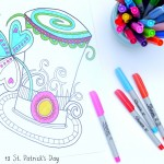 12 St. Patrick's Day Printable Coloring Pages for Adults & Kids