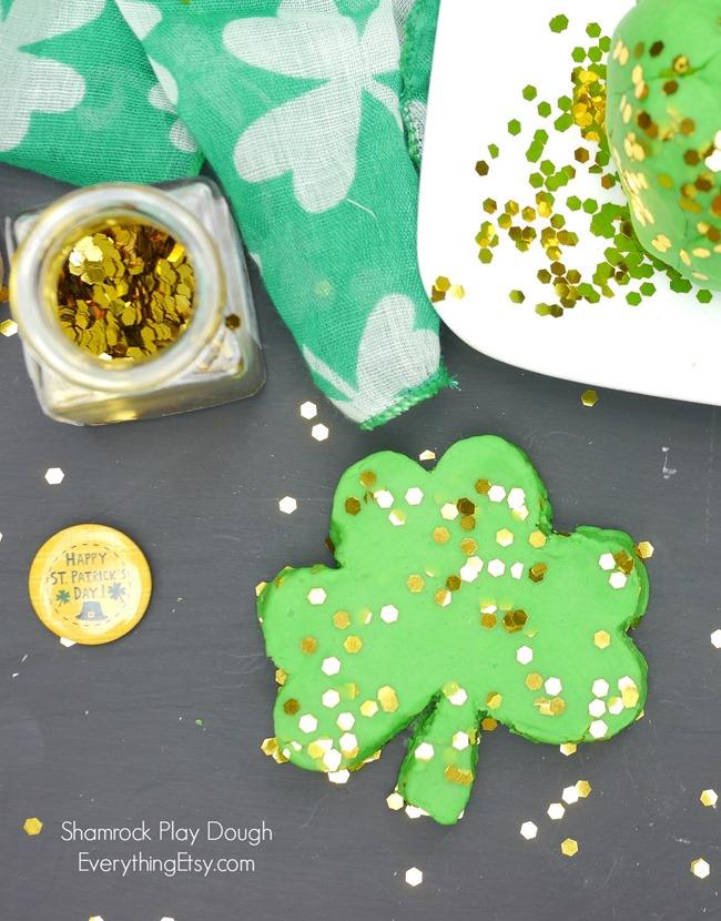 DIY Shamrock Play Dough on EverythingEtsy.com