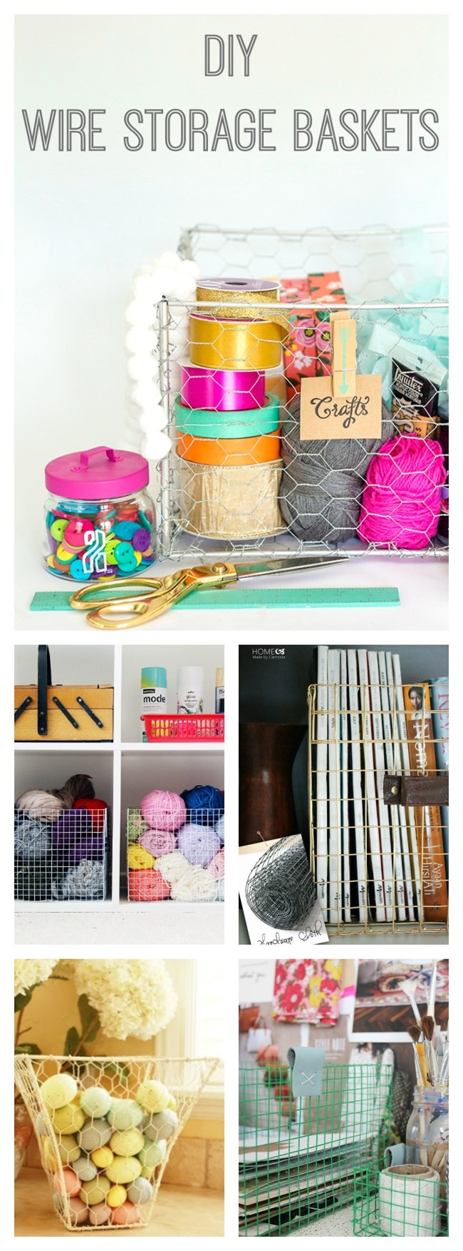 DIY Wire Baskets - Craft Room Storage {DIY Organization} - EverythingEtsy.com