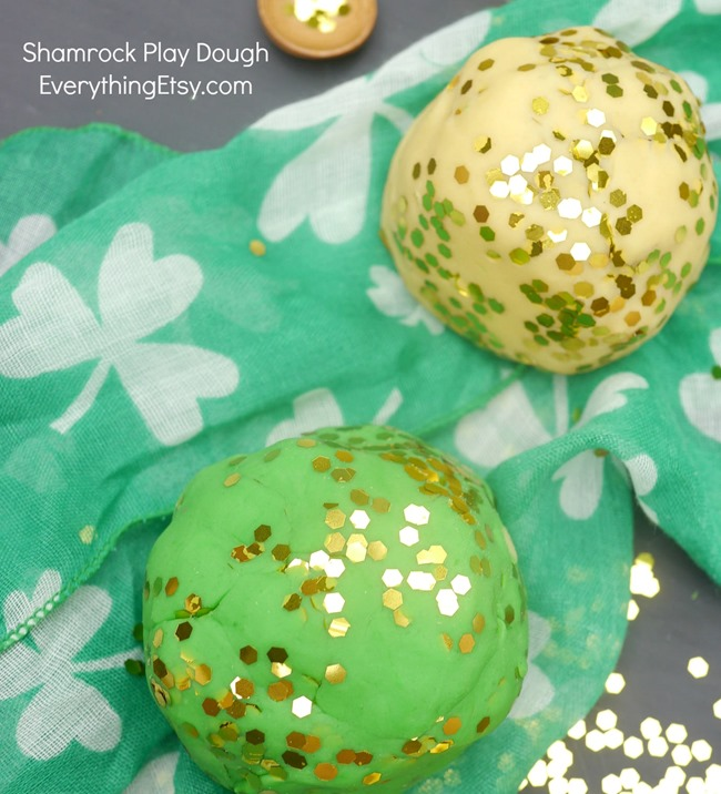 Shamrock DIY Play Dough for St. Patrick's Day - EverythingEtsy.com