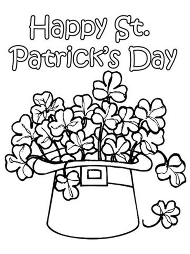photograph relating to Shamrock Coloring Pages Printable identify 12 St. Patricks Working day Printable Coloring Internet pages for Grown ups