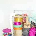 DIY Wire Baskets for Craft Room Storage