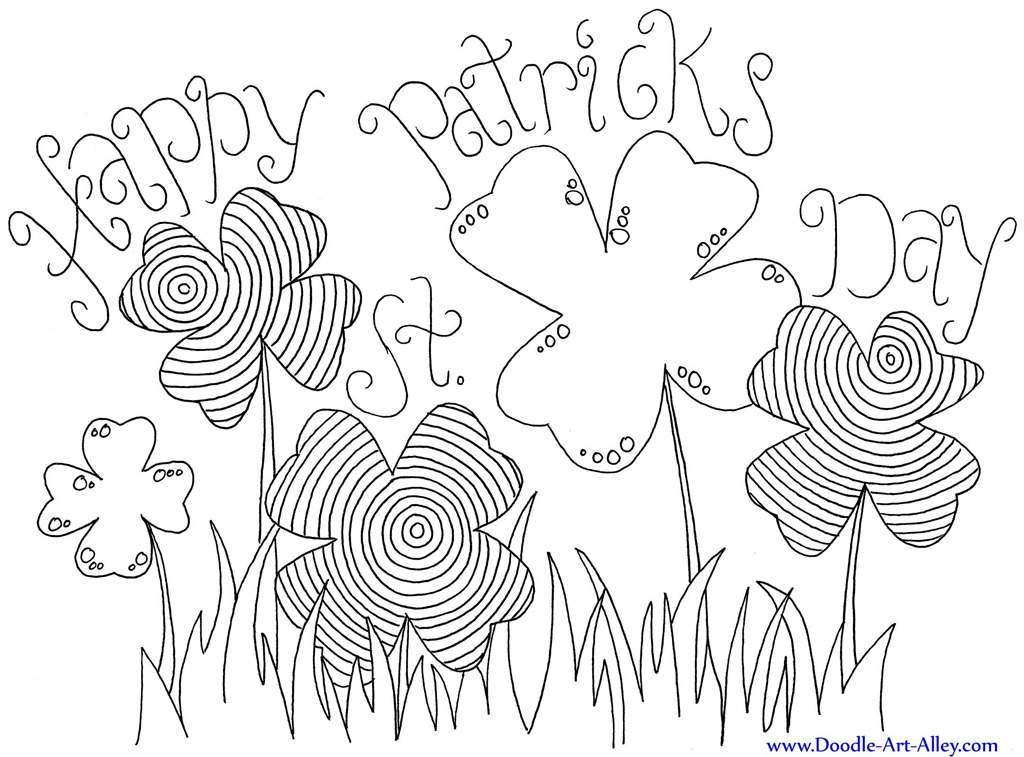 graphic about Free Printable St Patrick Day Coloring Pages called 12 St. Patricks Working day Printable Coloring Internet pages for Grownups
