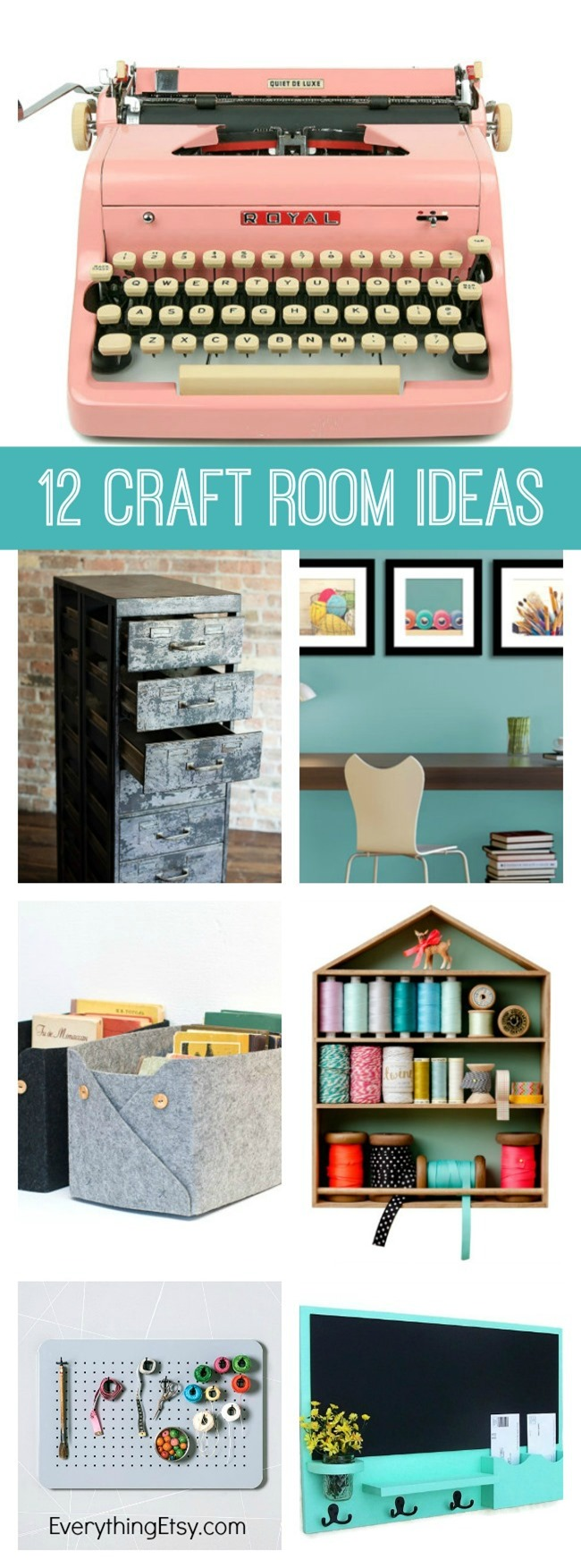 12 Craft Room Decorating Ideas on Etsy -- EverythingEtsy.com