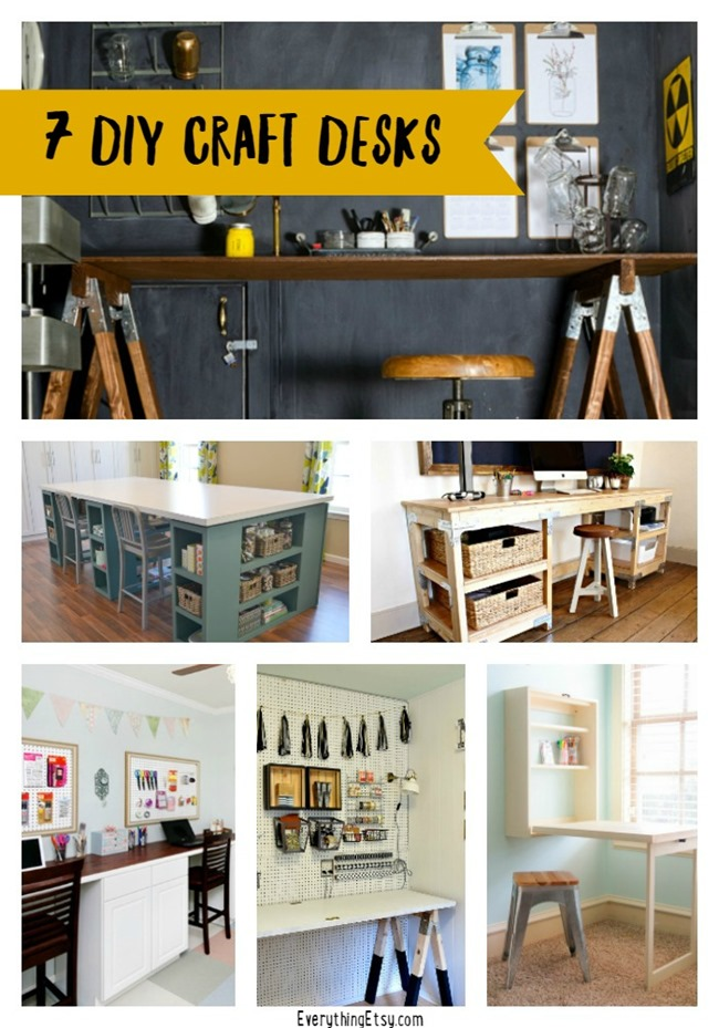 7 DIY Craft Desks for your awesome craft room on EverythingEtsy.com