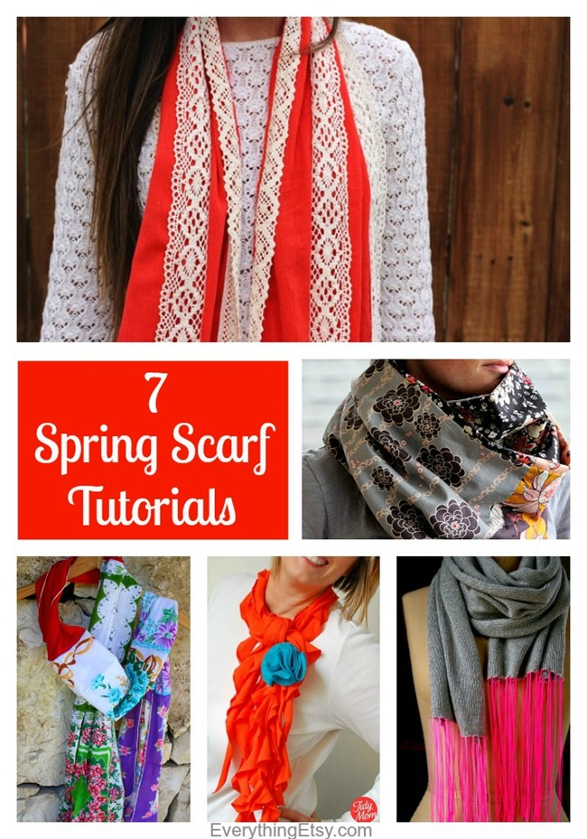 7 Spring Scarf Sewing Tutorials on EverythingEtsy