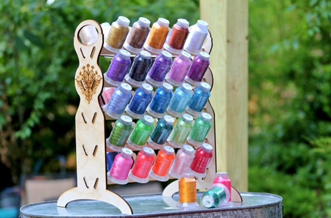 Craft room embroidery thread organzier on Etsy