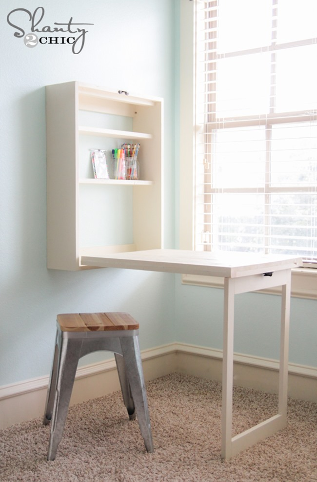 DIY Craft Room Desk - Folding