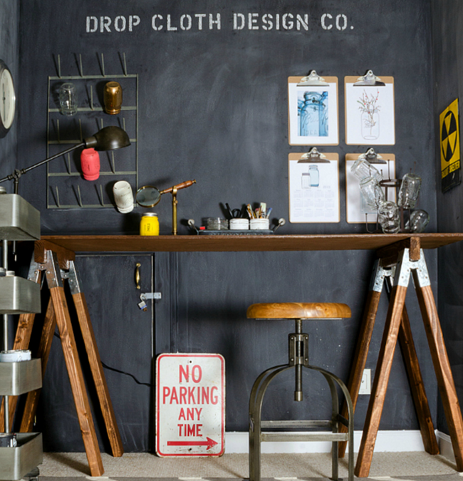 DIY Craft Room Desk - Industrial