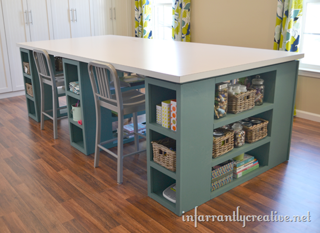 DIY Craft Room Desk - Large