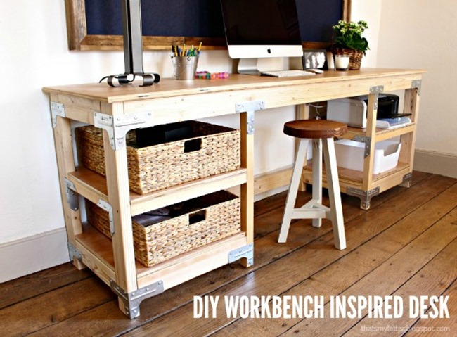 DIY Craft Room Desk - Workbench